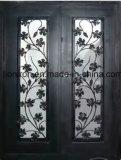 Hand-Crafted bearbeitetes Eisen-Doppelt-Einstiegstüren