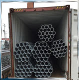el cinc 1.5inch cubrió el tubo de acero galvanizado BS1387 para el marco del invernadero