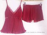 Vêtements de nuit de bonne qualité de mousseline de soie de dames