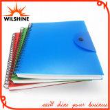 Kundenspezifisches gewundenes Adressen-Notizbuch mit pp.-Deckel für Geschäfts-Geschenk (PPN220)