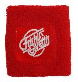 Profesional bordado del logotipo de Proveedor de algodón Deportes Muñequera