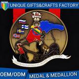 2016 nuove medaglie della fabbrica della Cina di disegno con il medaglione del nastro