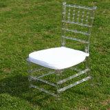 Cushionの明確なRed Resin Chiavari Chair