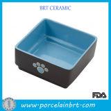 Perro de encargo del tazón de fuente del alimentador del cuadrado del color