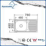 Boven de TegenGootsteen van de Keuken van Moduled van het Roestvrij staal (acs-7848)