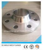 ASTM a modifié la bride d'acier inoxydable de Wnrf 316ti de collet de soudure
