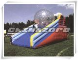 Rampa inflable de Zorb del encerado del PVC del grado comercial para el juego de Zorbing