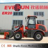 Everun Lader van het Wiel van het Landbouwbedrijf van 2 Ton de Compacte met grijpt Vorken vast