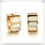 De Oorring van het Roestvrij staal van de Juwelen van de Parel van de Juwelen van de manier (EE0122)