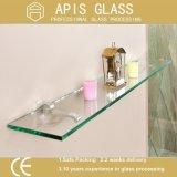 Badezimmer-dekoratives Glaseckregal-ausgeglichenes Glas
