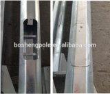 Galvanizado e colorido em pó revestido Street Light Steel Pole