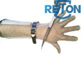 Lang-Hülse Edelstahl-Ineinander greifen-Handschuh/beständiger Stahlhandschuh des Metzger-Glove/Cut