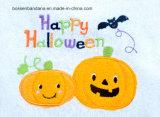 OEM kwijlt het Opbrengst Aangepaste Geborduurde Katoen Terry White Applique Baby Feeder van het Ontwerp Halloween Slab