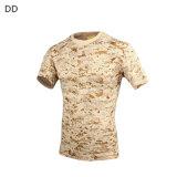 T-shirt tático Cl34-0067 camuflar ao ar livre de Bdu do combate da floresta do esporte da caça