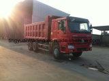 입방 Sinotruk 6*4 10wheels 20의 HOWO 덤프 트럭 팁 주는 사람 쓰레기꾼 트럭