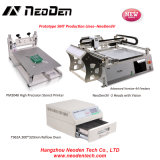 Linhas de produção da picareta e do lugar do protótipo de Neoden3V+Pm3040+T962A, 0402, BGA, 2 cabeças com visão--44 alimentadores