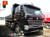 Sinotruk HOWO A7 8X4 12 바퀴 덤프 또는 팁 주는 사람 트럭