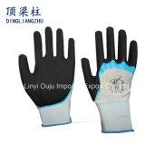 13G de nylon Handschoenen van de Veiligheid met de Zandige Vinger Versterkte Handschoenen van het Latex