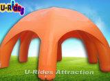 12m 직경 주황색 색깔 당 사용을%s 팽창식 거미 천막은 OEM일 수 있다