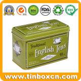 مستطيلة معدن يزيّن شاي قصدير علبة لأنّ [تا كدّي] تخزين