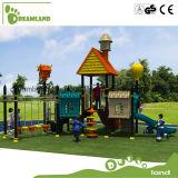 Campo de jogos ao ar livre do equipamento popular do campo de jogos do miúdo com corrediça