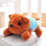 Juguete suave relleno de mentira del perrito del perro de la felpa del diseño de Shar-Pei nuevo