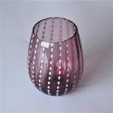 Vidrio de vino elíptico del color sólido de la dimensión de una variable