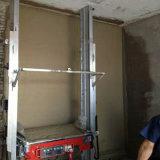 Constructin Geräten-Wand, die Maschine vergipst und überträgt