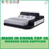 Europäisches Art-Schlafzimmer-Leder-Bett