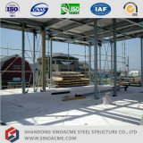Casa de la estructura de acero con el panel de Alc