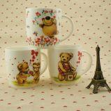 Caneca de café cerâmica feita sob encomenda quente da promoção de venda com urso bonito