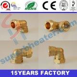 Garnitures de cuivre élevées de Quanlity coude de 90 degrés, pipe de cuivre