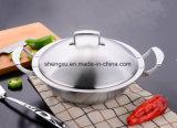 18/10 Wok Cookware нержавеющей стали китайских варя сковороду (SX-WO32-16)