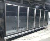Glastür für Weg im Kühlraum