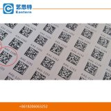 Autoadesivo stampato abitudine del codice a barre di Qr