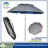 Parapluie extérieur de pêche de double de chaîne de caractères parasol d'inclinaison (SY2184)