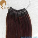 La cadena del algodón Nudo-Basó la extensión india del pelo de Remy de la queratina