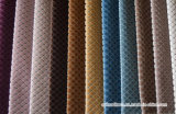 Tissu brillant de velours de polyester de coton de pile courte pour le capitonnage