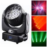 éclairage mobile de lumière/événement de lavage de la tête RGBW de 19*12W DEL/lumière d'effet faisceau d'étape