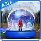 Globo gonfiabile gonfiabile gigante della neve di natale del PVC del globo della neve di natale da vendere