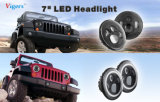 Jeep Wrangler를 위한 7 인치 40W LED Headlight