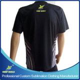 T-shirt de roulement imprimé par sublimation faite sur commande