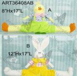 """6 """" decoración bordada mano de H Owl-4asst-Easter"""