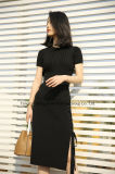 Lace-up Knit Skirt Black Sweater Womens