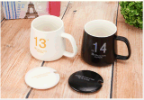 Caneca cerâmica do copo de chá do café do curso do projeto novo com tampa