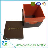 Logotipo luxuoso caixa de presente de empacotamento cosmética gravada