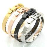 Edelstahl-Armband-Stulpe-Gürtelschnalle-Armband der Paar-Schmucksache-Form-316L