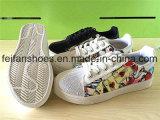 Ботинки PU самой последней впрыски обуви школы вскользь (FFYJ1223-05)
