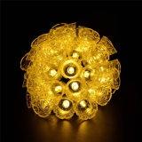 40 СИД 25FT свет шнура колокола 8 режимов солнечный