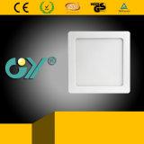 새로운 12W 정연한 최고 호리호리한 떠오른 거치된 LED Panellight (세륨; TUV)
